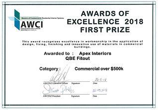 AWCI 2018 Excellence Award
