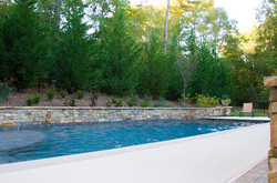 Pool and Retaining Wall