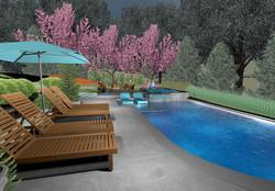 3D Pool Deck View