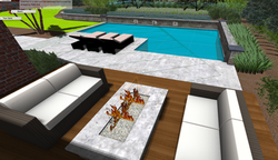 3D Pool and Firepit Design