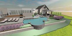 3D Pool Design Back View