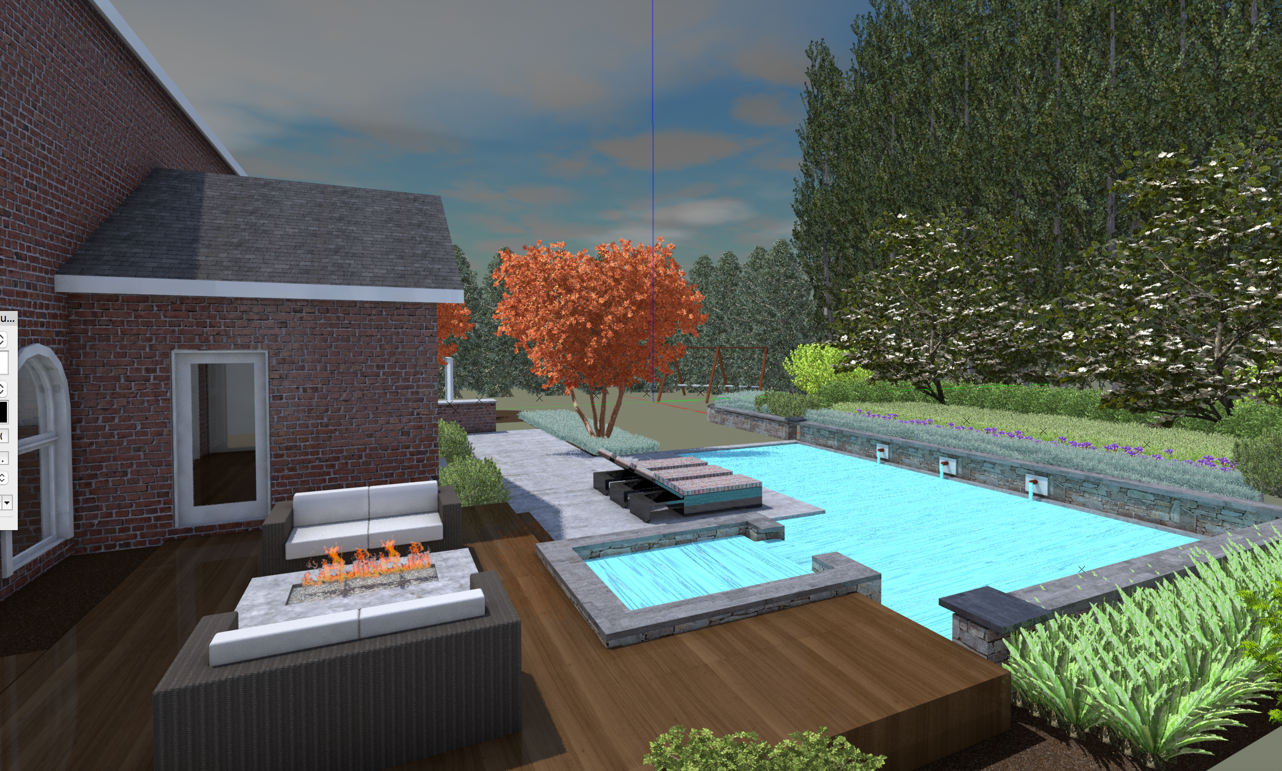 3D Pool Deck Design