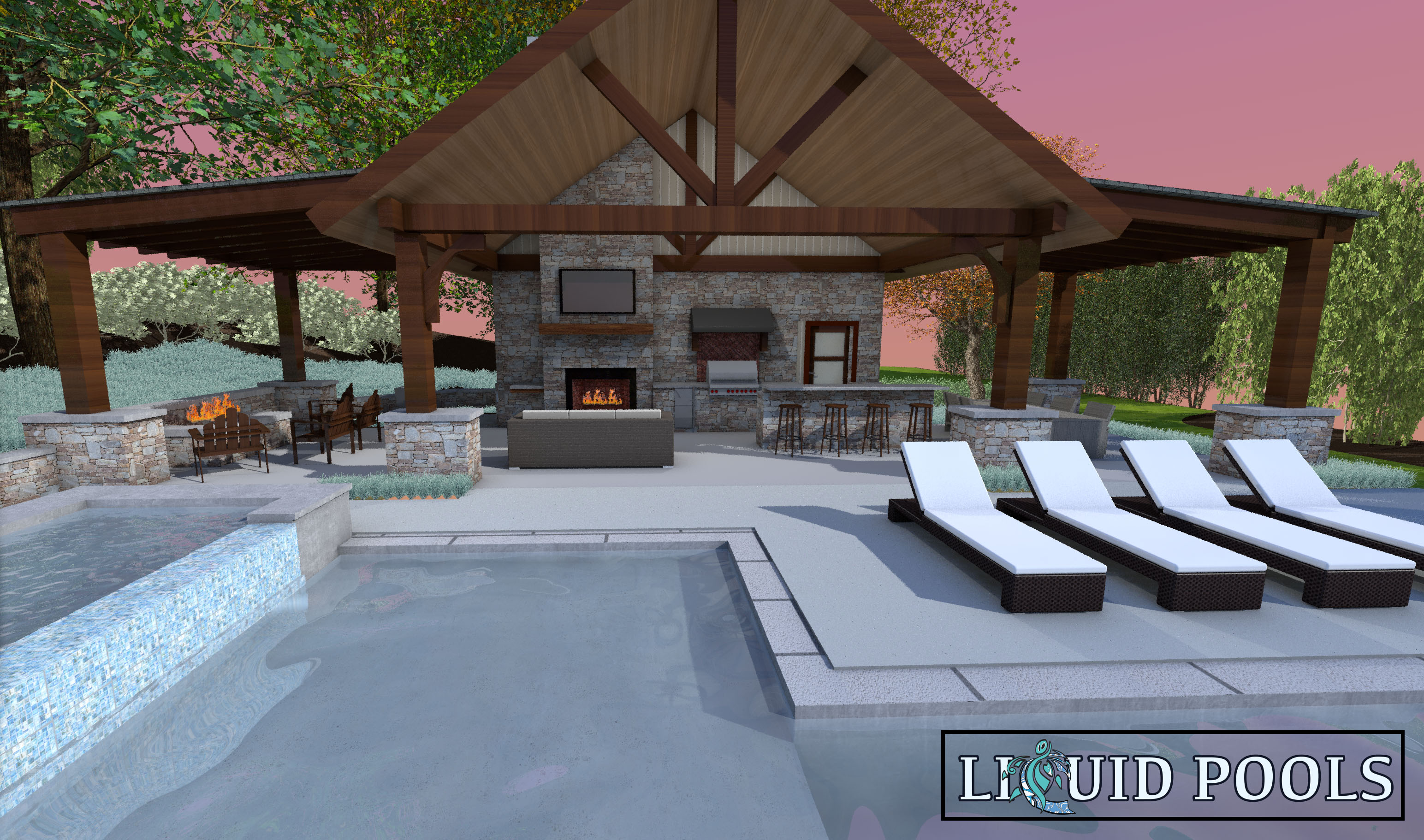 3D Pool House Design