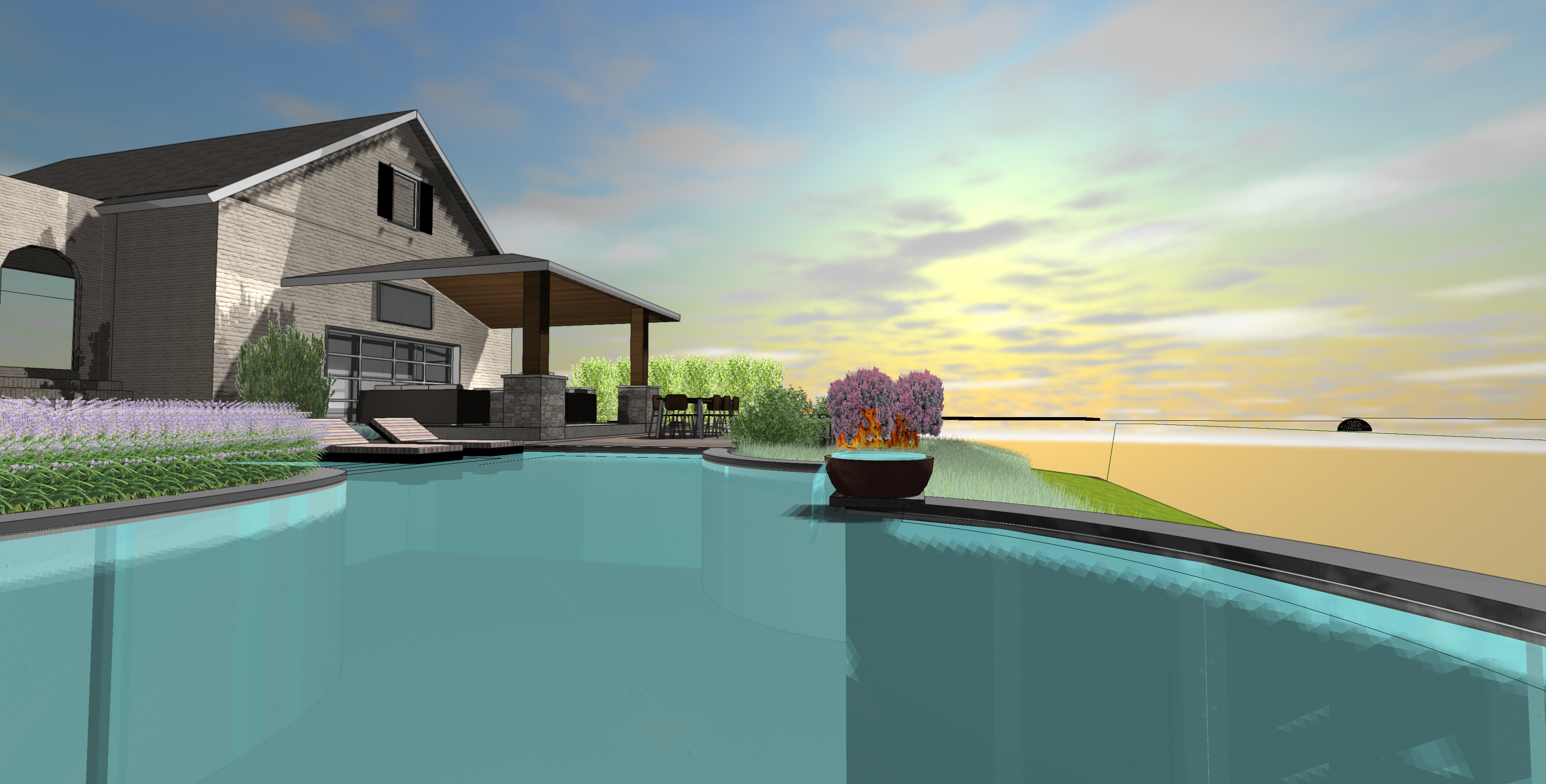 3D Pool Design View