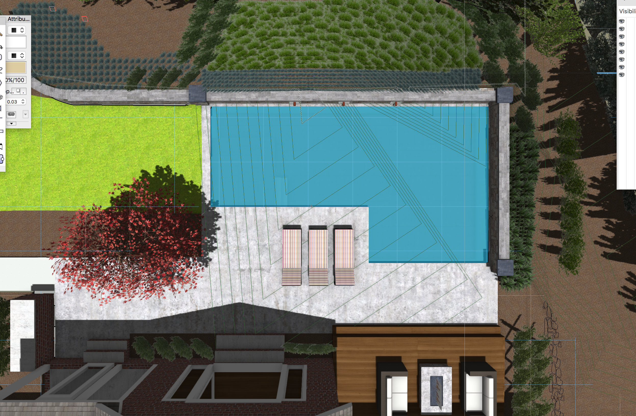 3D Backyard Pool Design