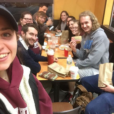 When Denny's is closed on a Tuesday night, #newlife goes to #dunkin with a side of #mcdonalds 😂#collegeministry