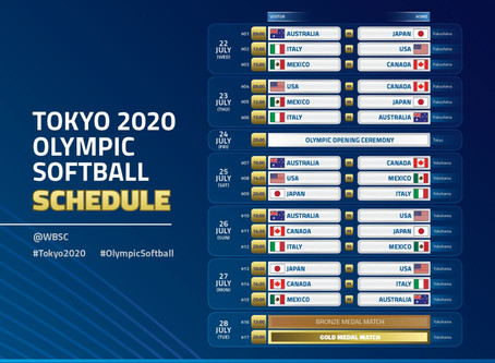 Official Game Schedule for Tokyo 2020 / Calendario oficial de juegos para Tokio 2020