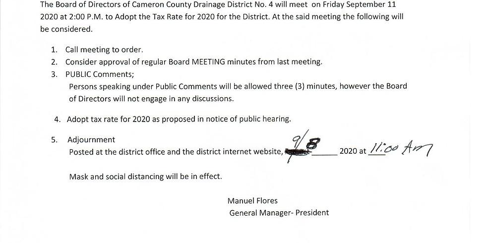 CCDD4 will meet 9/11/2020 @ 2:00pm