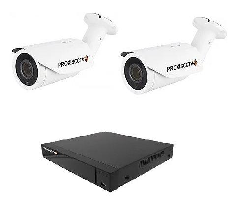 Комплект уличного видеонаблюдения на 2 камеры