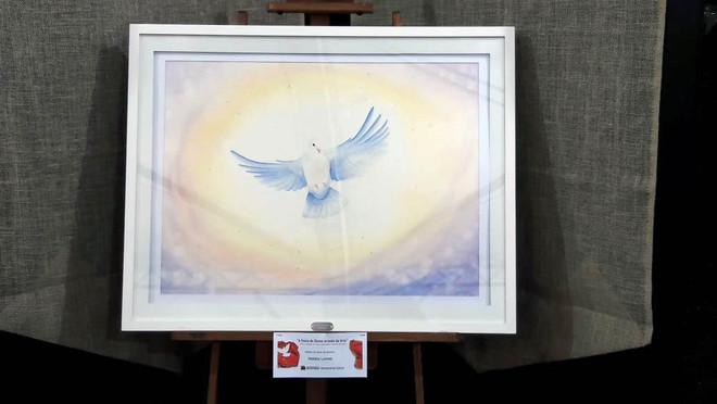 BRILHO DO AMOR DO DIVINO  Obra Festa do Divino 2019 (Aquarela com Luz de Led ao redor)