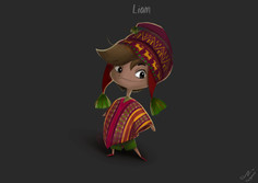 PERSONAGEM LIAM FINALIZADO  Machu Picchu