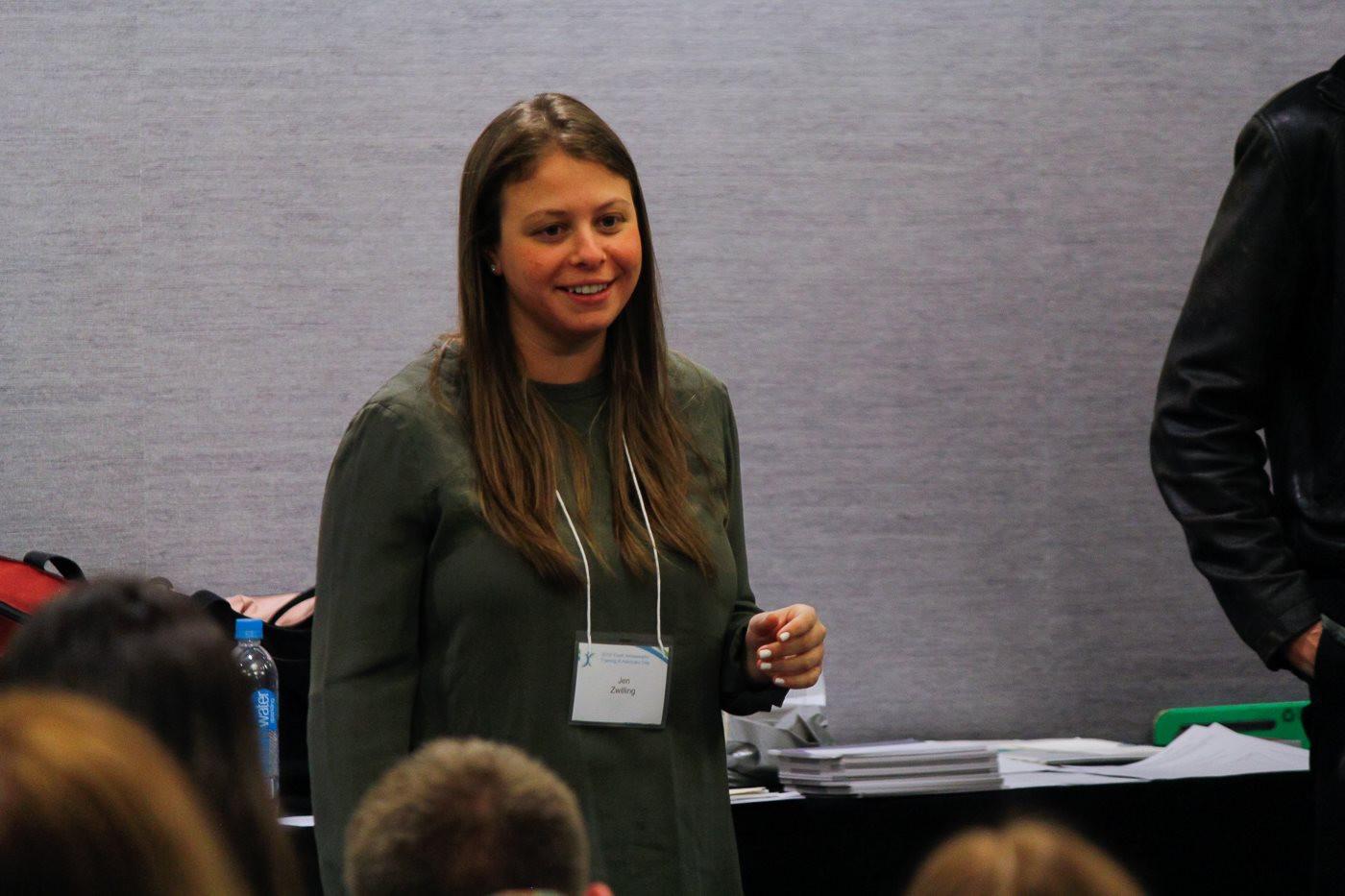 Jen Zwilling training Youth Ambassadors
