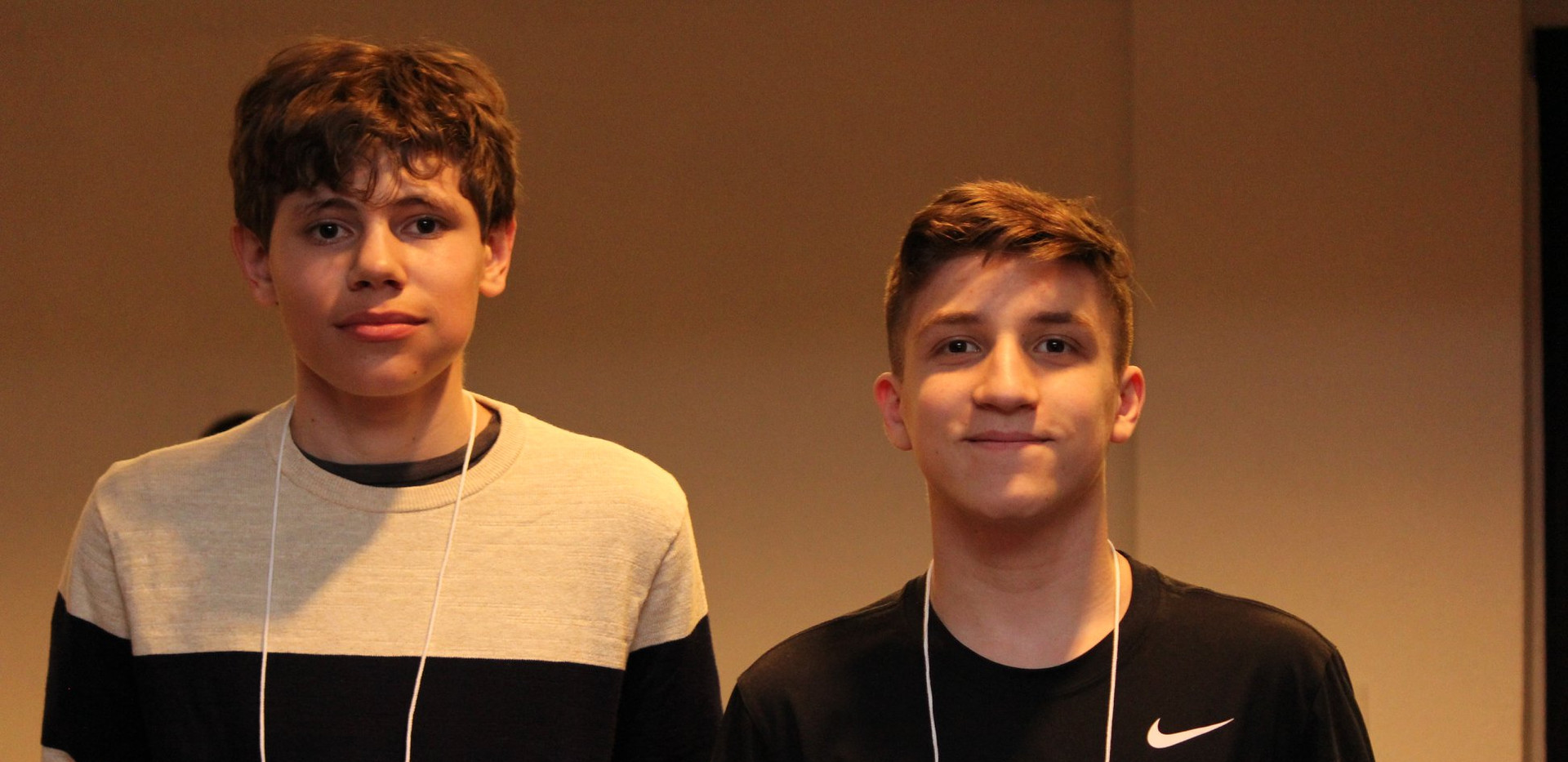 New Youth Ambassadors Aiden and Sam R.