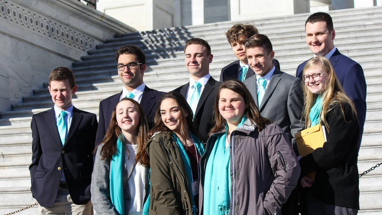 Youth Ambassadors: Victoria, Becca, Courtney, Kacy, Steven, Sam R., Aiden, Blaise, Sam G., and Pierce