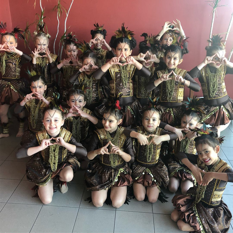 Our beautiful V-Kids getting ready to perfom