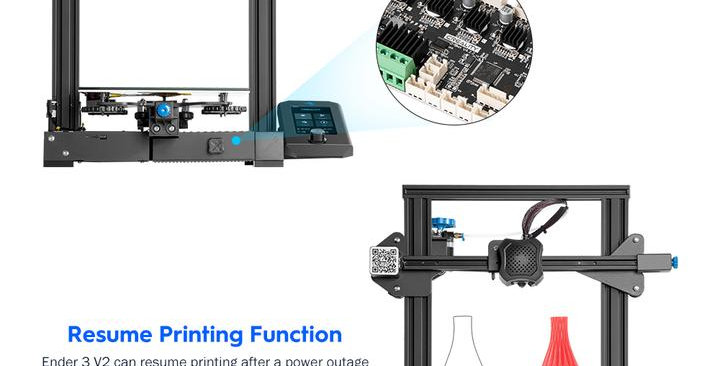 Ender-3 V2 3D Printer with silent board high performance