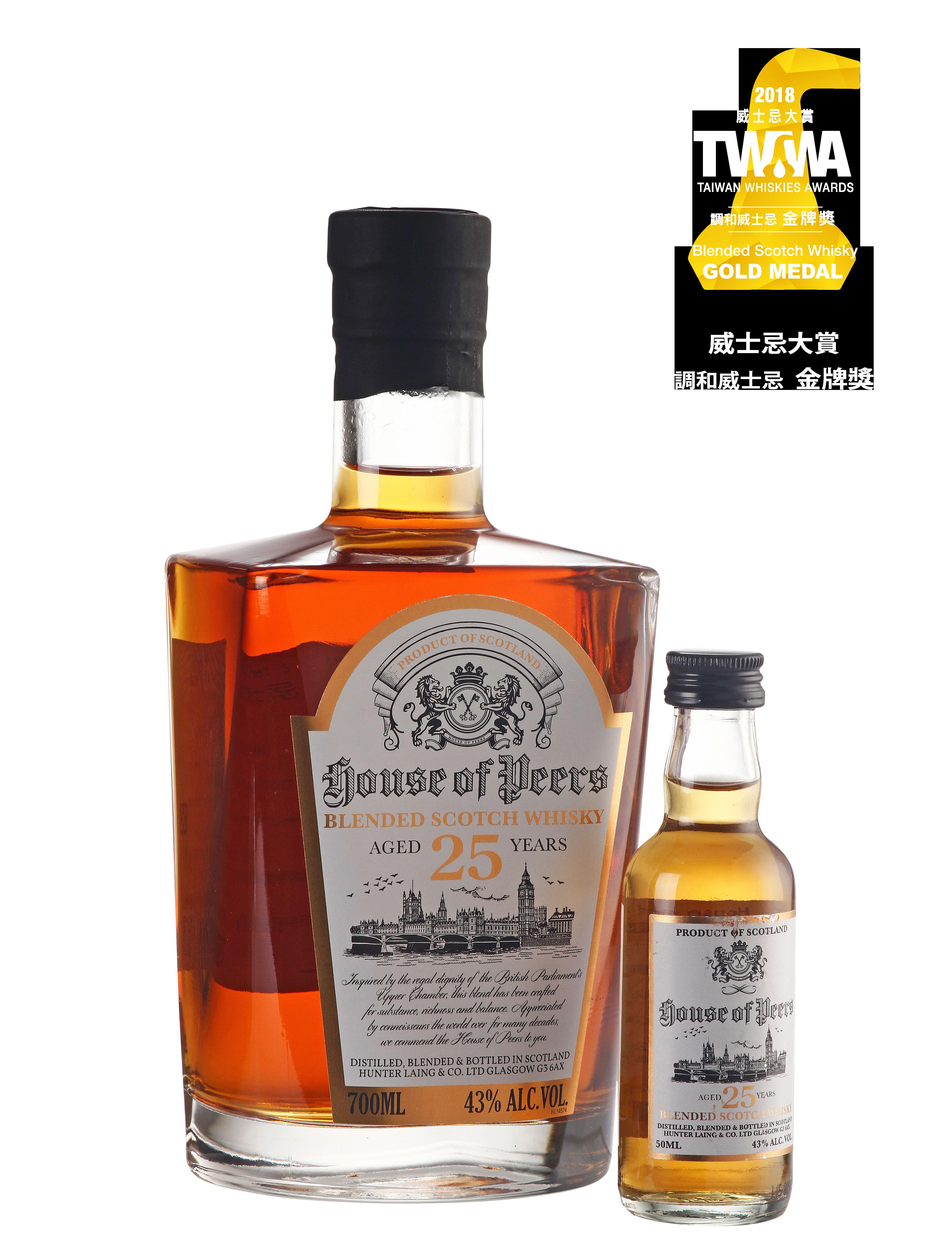 皮爾斯調和威士忌25年深沉珍稀款