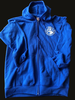 HAT Logo Zip-up Hoodie - Blue