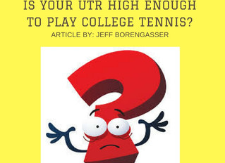 Is Your UTR High Enough To Play College Tennis?