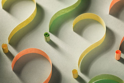 colorful-question-marks-of-curled-paper-