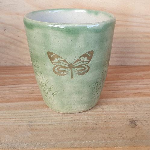 Kaffeebecher Schmetterling Seladon