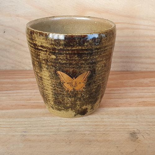 Kaffeebecher Schmetterling Gold