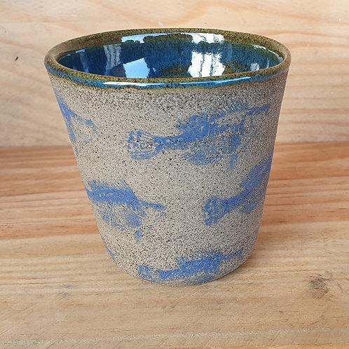Kaffeebecher Fisch (blau)