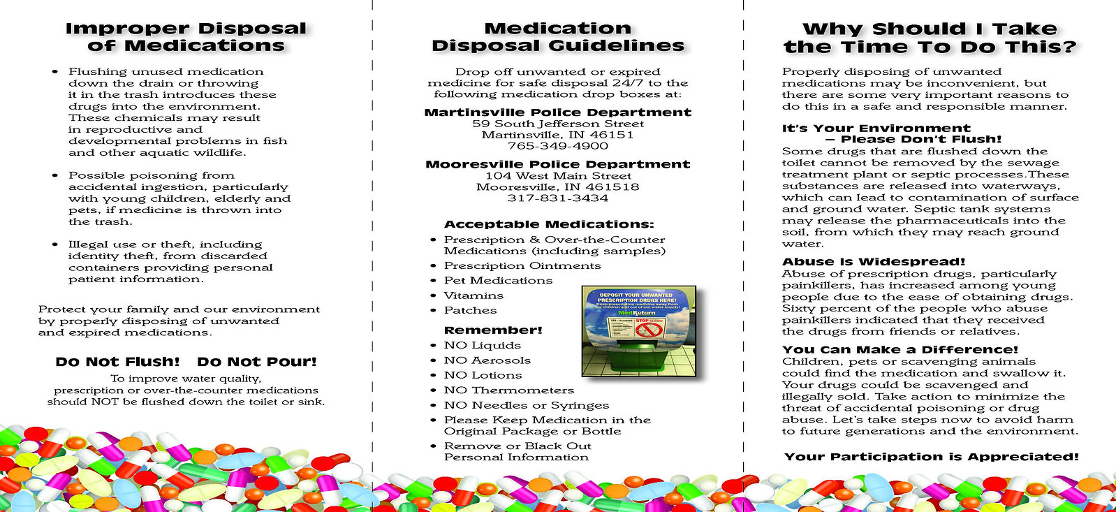 2016 Medication Disposal - brochure2_Pag