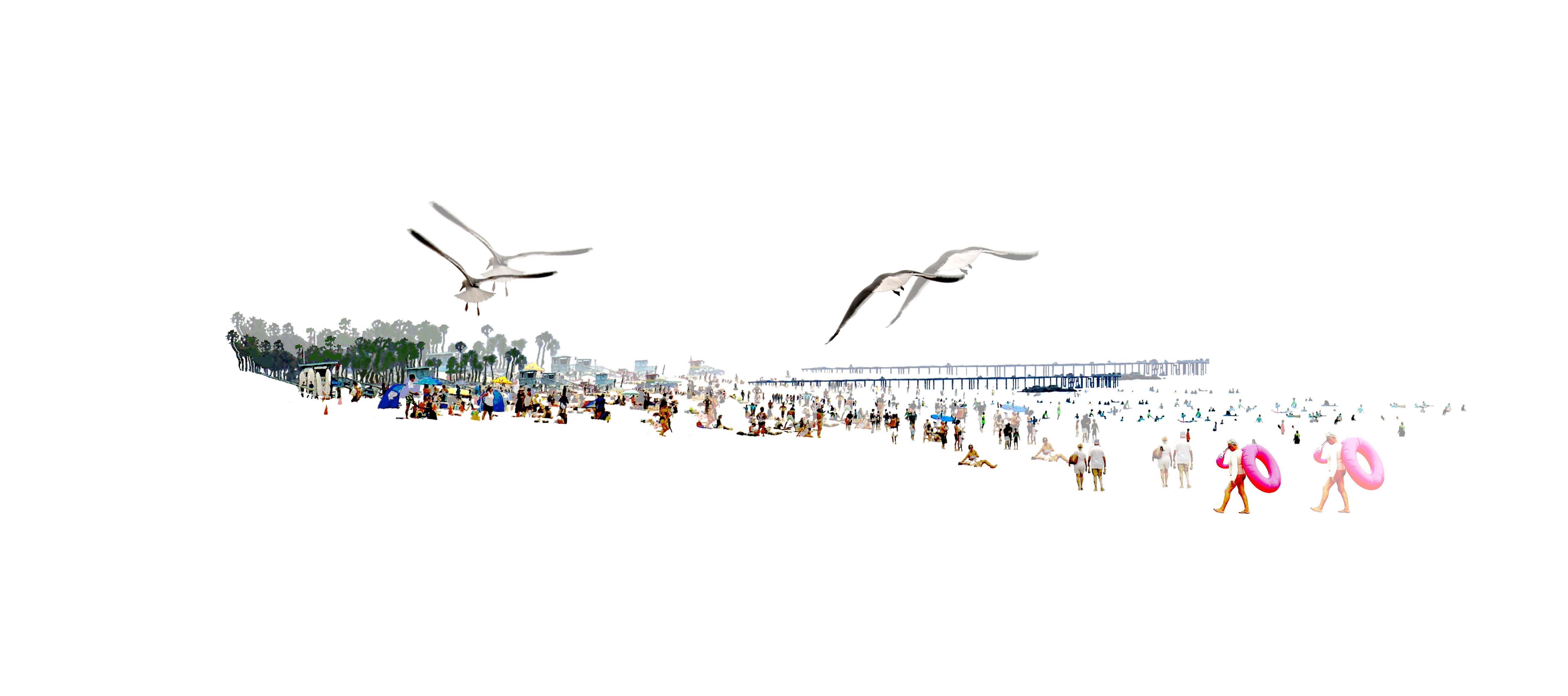 Santa Monica gauche 2019 20x45cm