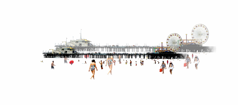 Santa Monica droite 2021 20x45cm