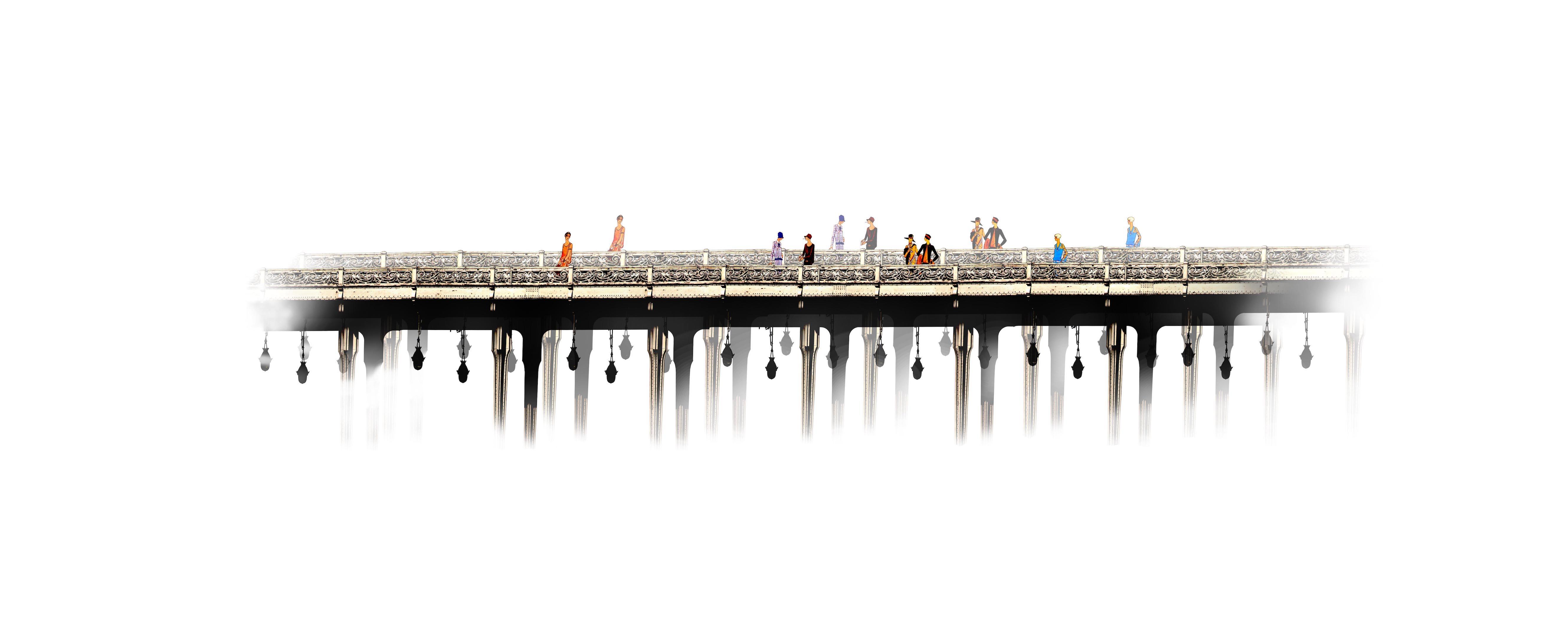 Le Pont 1900 - 2015 20x45cm