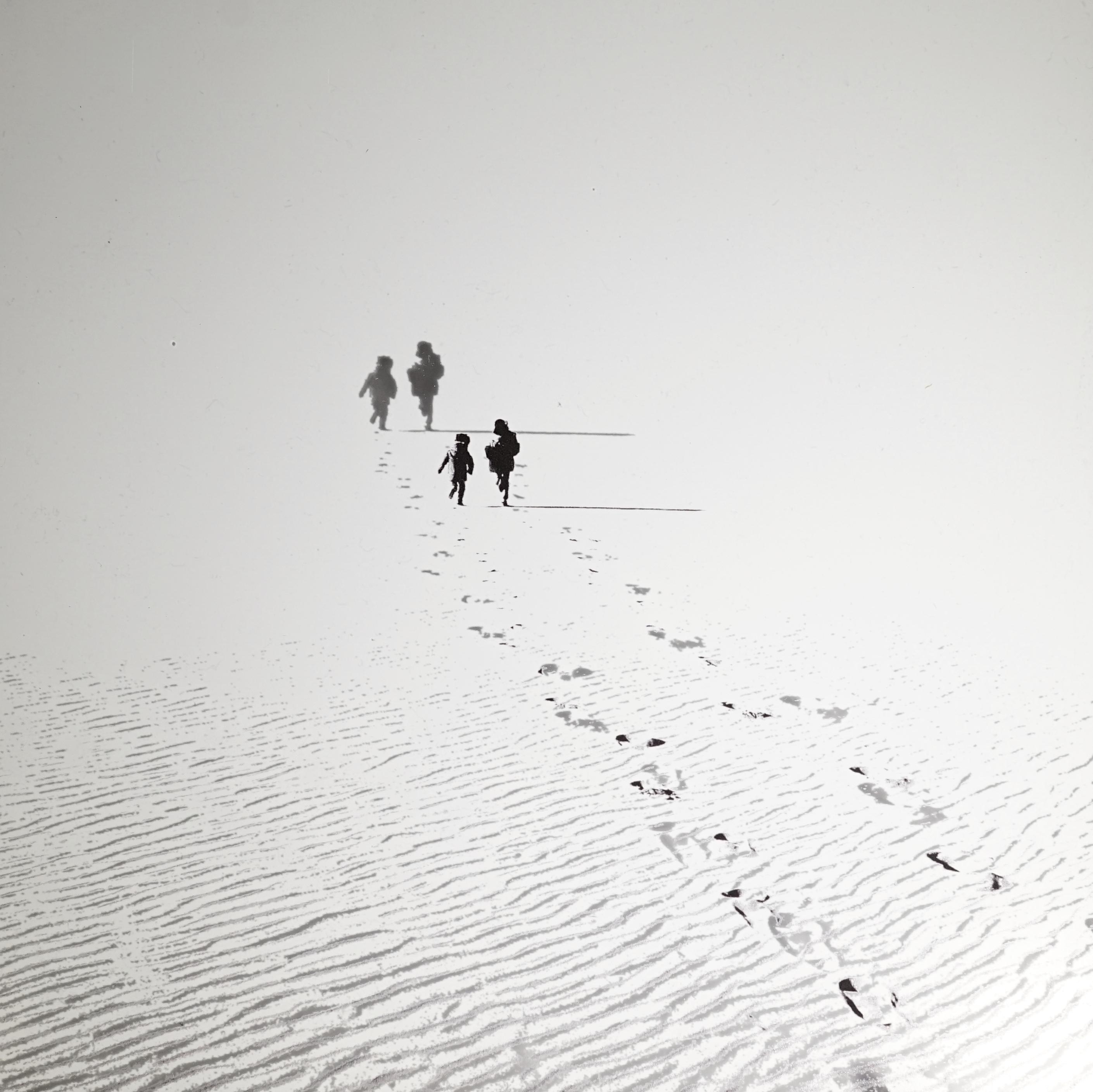 Des Pas sur le sable 2016 23x23cm