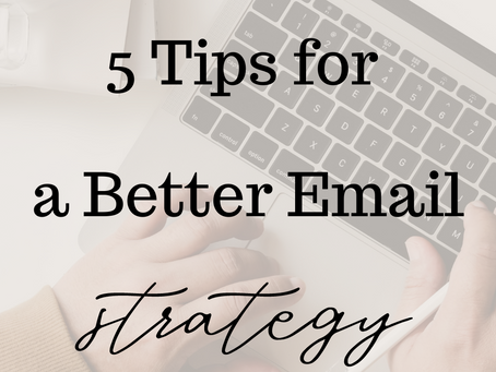 Building an Email List + Sending Better Emails