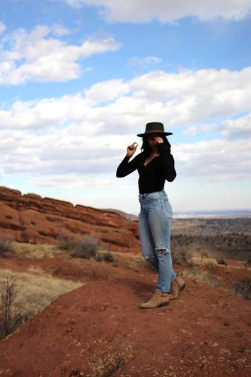 megan garcia at red rocks in colorado
