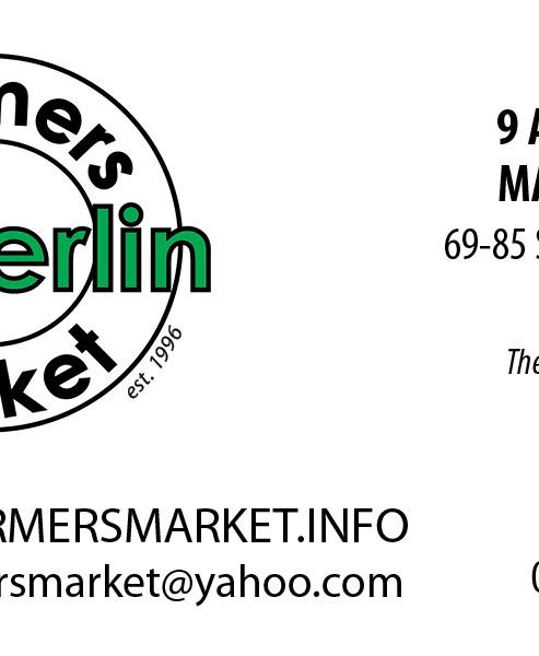 Oberlin Farmers Market  Business Card