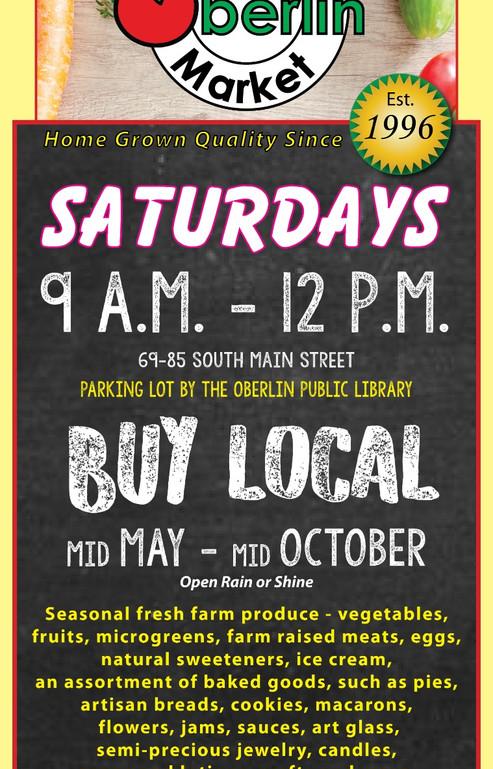 Oberlin Farmers Market Season  ad for LorainCounty Weekly