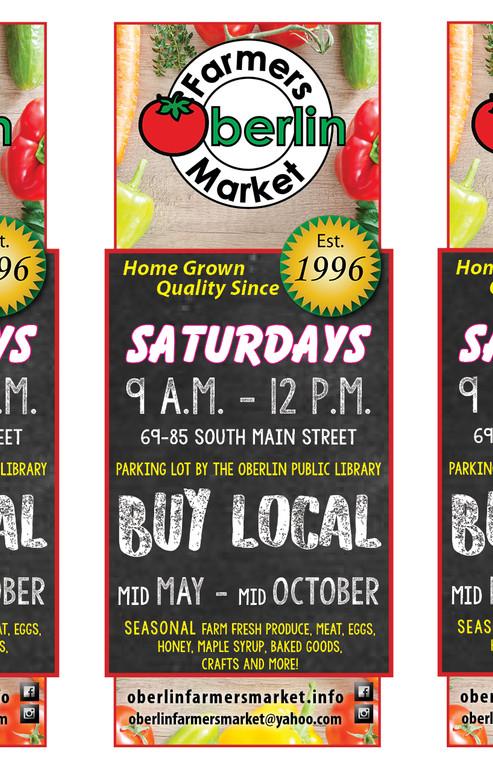 Oberlin Farmers Market Handbill/postcard