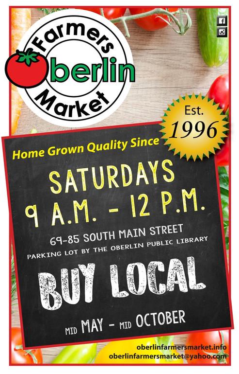 Oberlin Farmers Market Season  poster