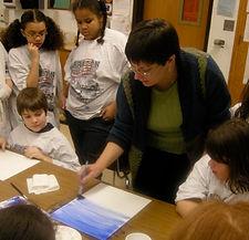 Kat Sikora Hilton teaching watercolor