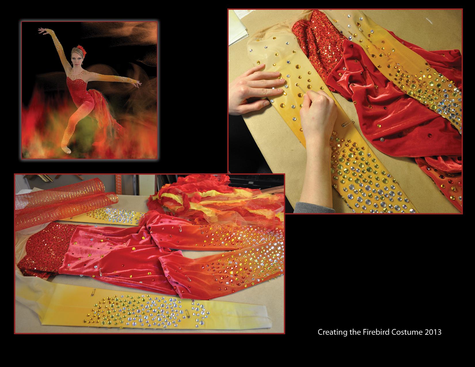 Firebird costume collage