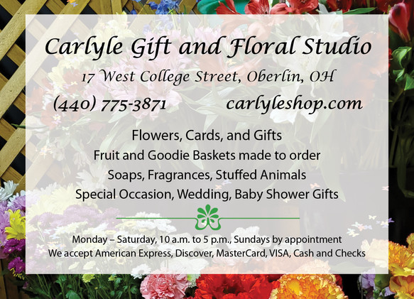 Oberlin Schools Carlyle Gift and Floral Studio Ad