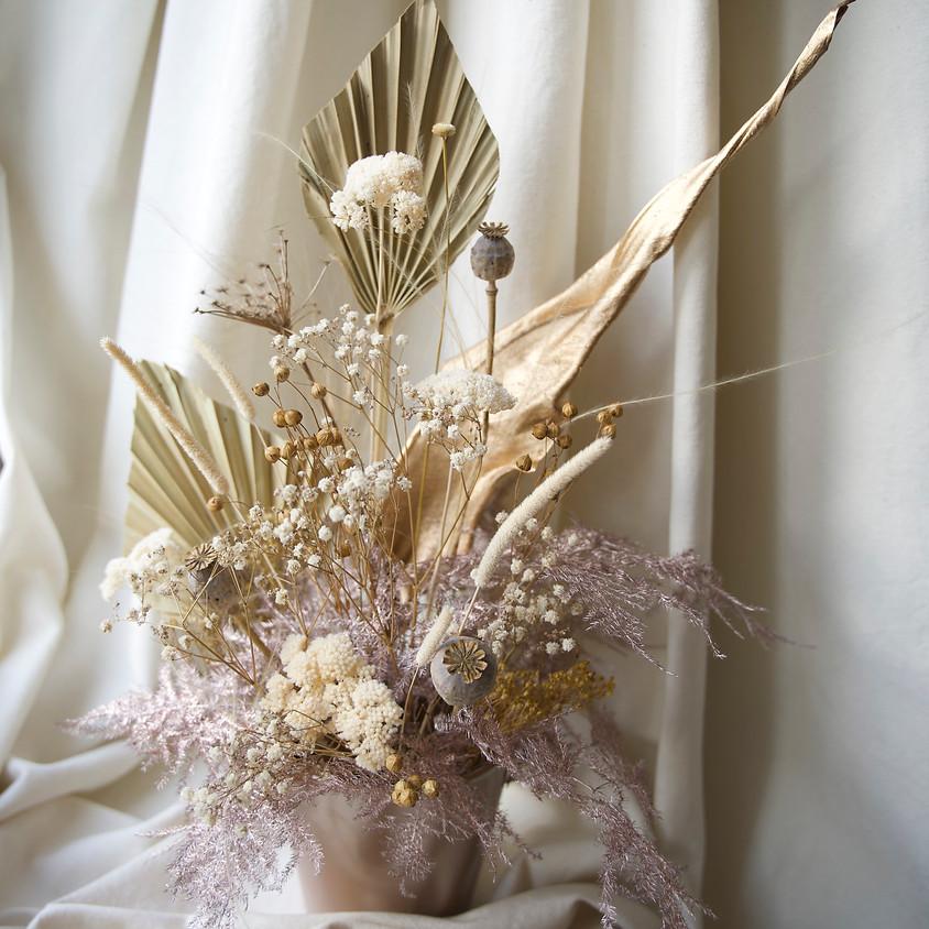 Atelier composition de Noël en fleurs séchées
