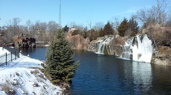 Quarry Waterfall, Winter, Montello