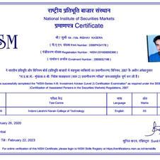 Rishav Kasera - NISM XB
