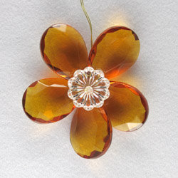 hand crafted crystal prism flower
