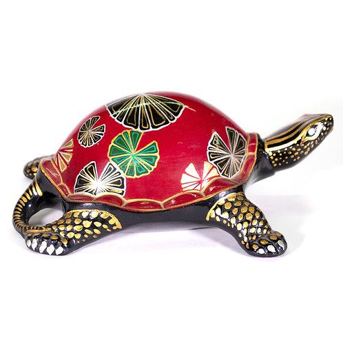Decorative Paper Mache Lacquer French Turtle