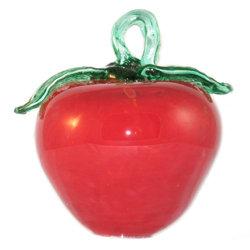 Murano handblown glass apple, red
