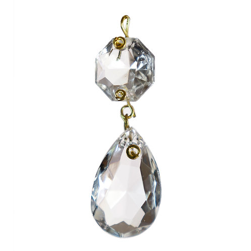 324 Almond half cut, flat face, with octagon jewel bead