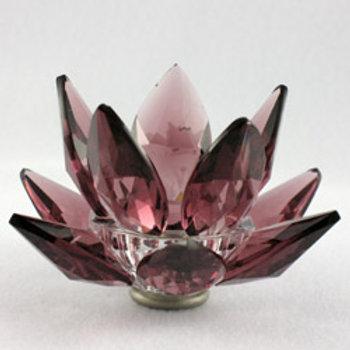 Swarovski Crystal Prism Amethyst Candle Holder