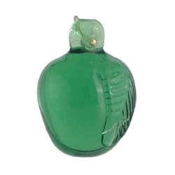 Pressed glass small green apple